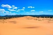 Dunes de sable de Coral Pink Sand Dunes près de Kanab, Utah