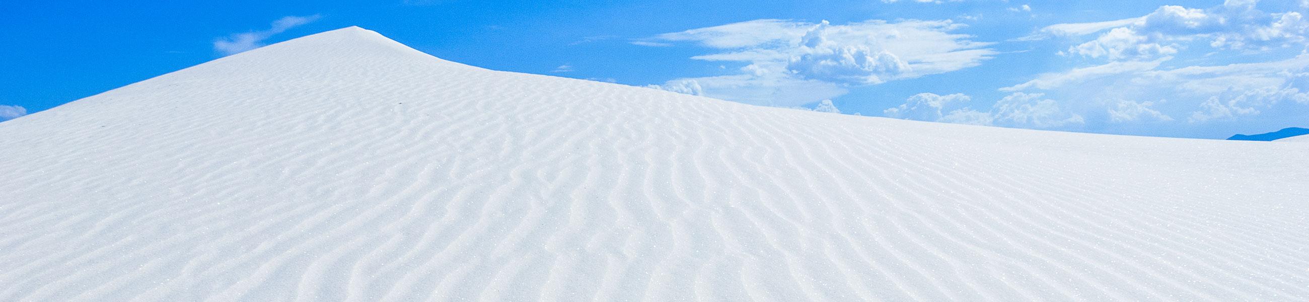 Dune de gypse dans White Sands, Nouveau-Mexique