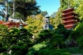 Temples et jardins japonais de Japanese Tea Garden dans le Golden Gate Park de San Francisco