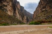 Santa Elena Canyon et le Rio Grande après la pluie, Big Bend National Park