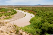 Rio Grande qui sépare les Etats-Unis du Mexique près de Boquillas Canyon, Big Bend National Park