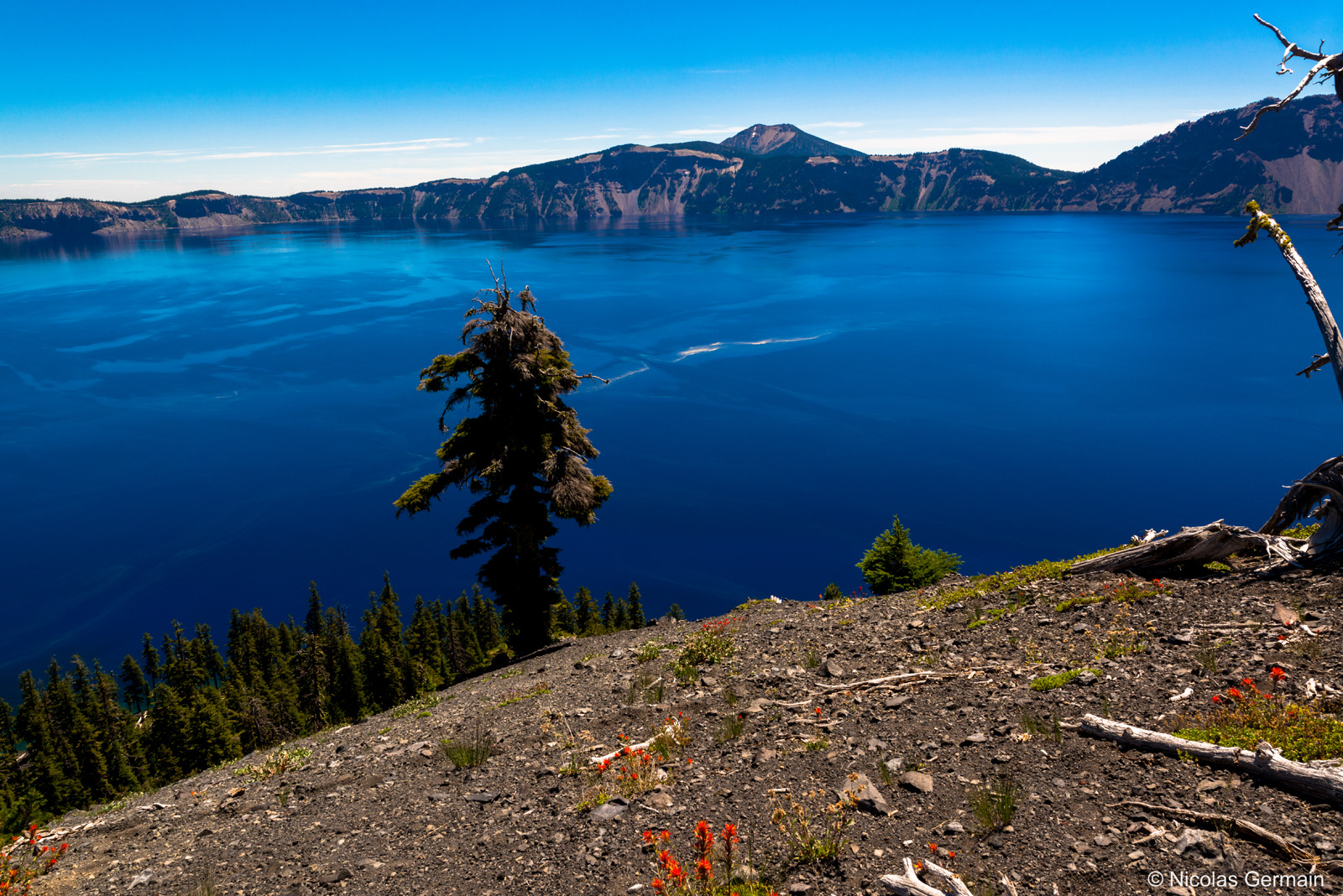 Crater Lake vu du sommet de Wizard Island, Oregon
