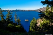 Phantom Ship et Crater Lake vus de Sun Notch Point, Oregon