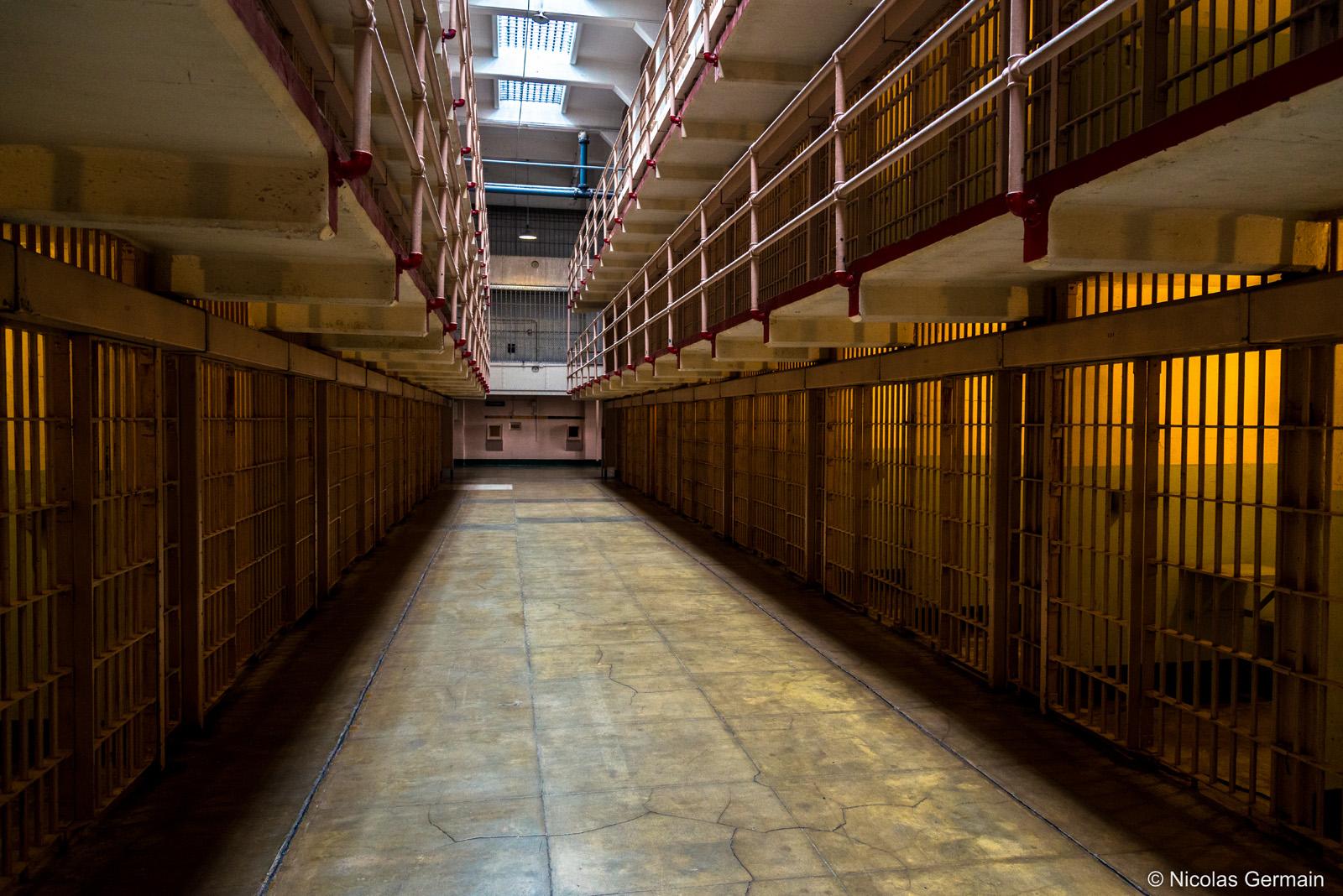 Cellules de la prison d'Alcatraz à San Francisco
