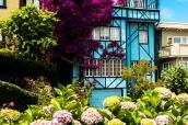 Maison bleue de Lombard Street à San Francisco