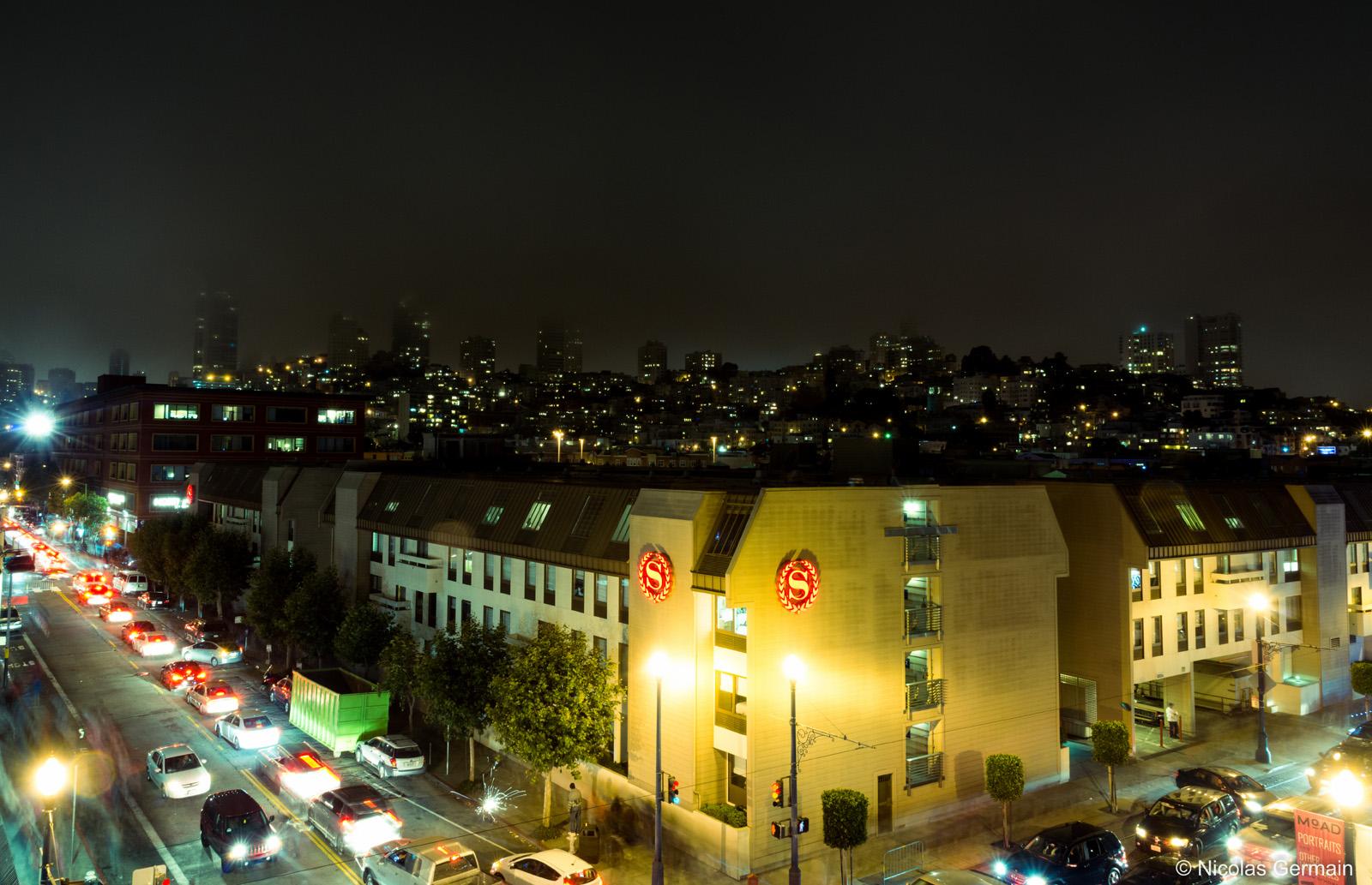 Vue sur San Francisco de nuit