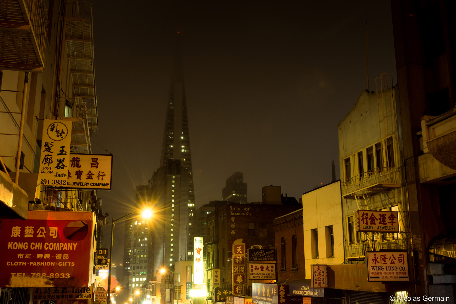 Chinatown de nuit, San Francisco