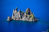 Phantom Ship et les eaux bleues de Crater Lake, Oregon