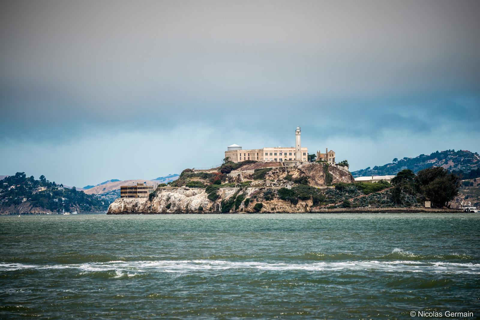 L'île prison d'Alcatraz dans la baie de San Francsico