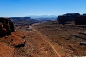 Shafer Trail Road au milieu de Canyonlands National Park, Utah