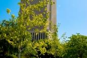 Bâtiment abritant les bureaux mormons et jardins de Temple Square à Salt Lake City, Utah