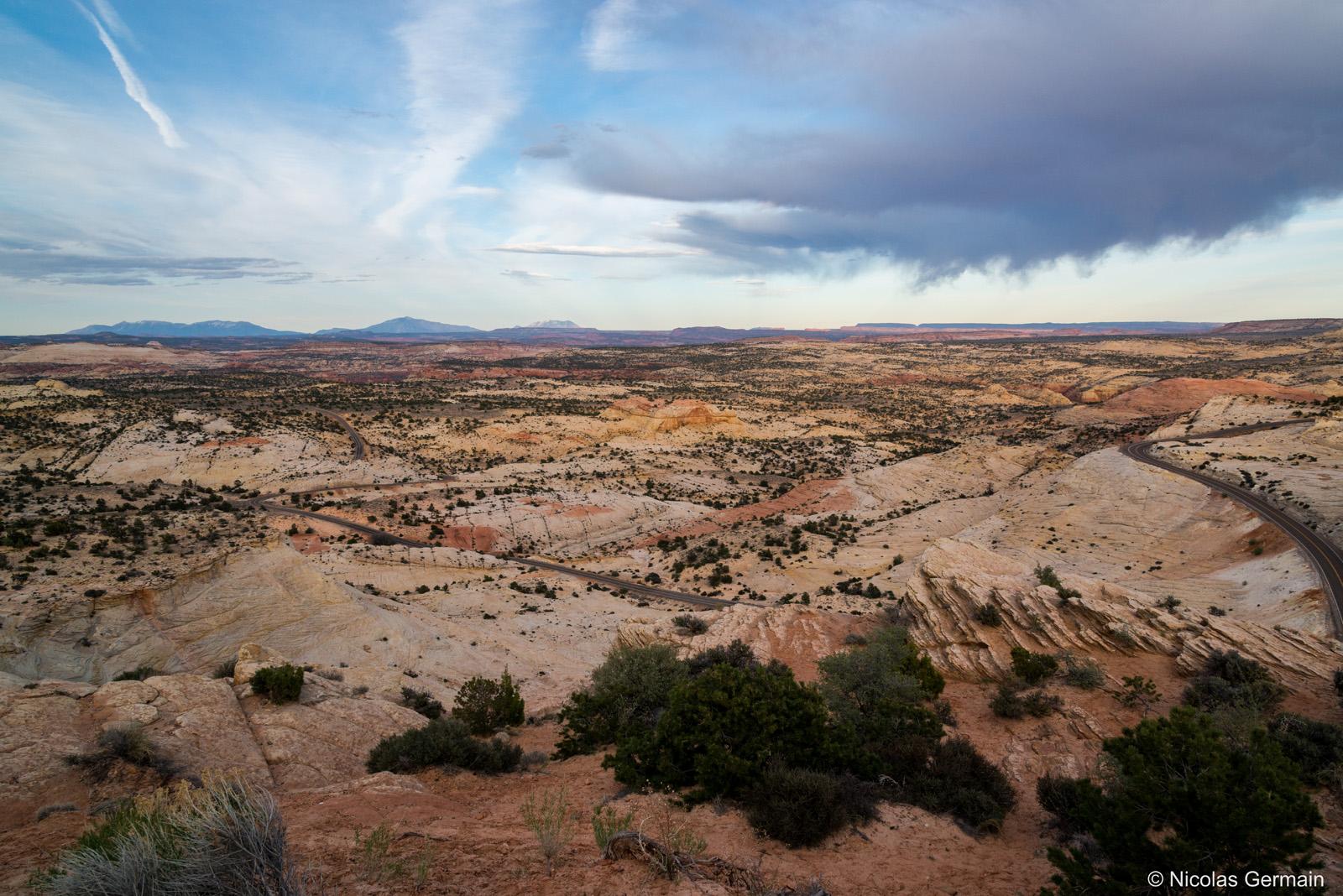 Route UT12 dans le nord de Grand Staircase Escalante National Monument, Utah