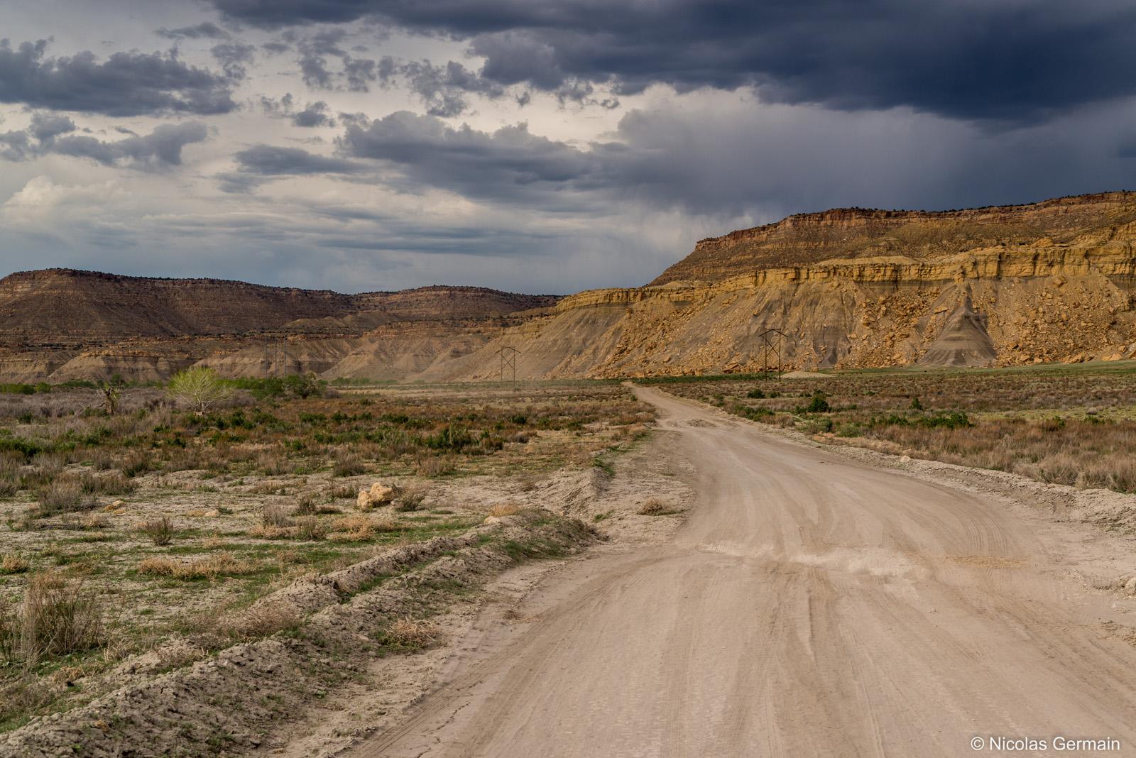Piste Cottonwood Road dans Grand Staircase Escalante National Monument, Utah