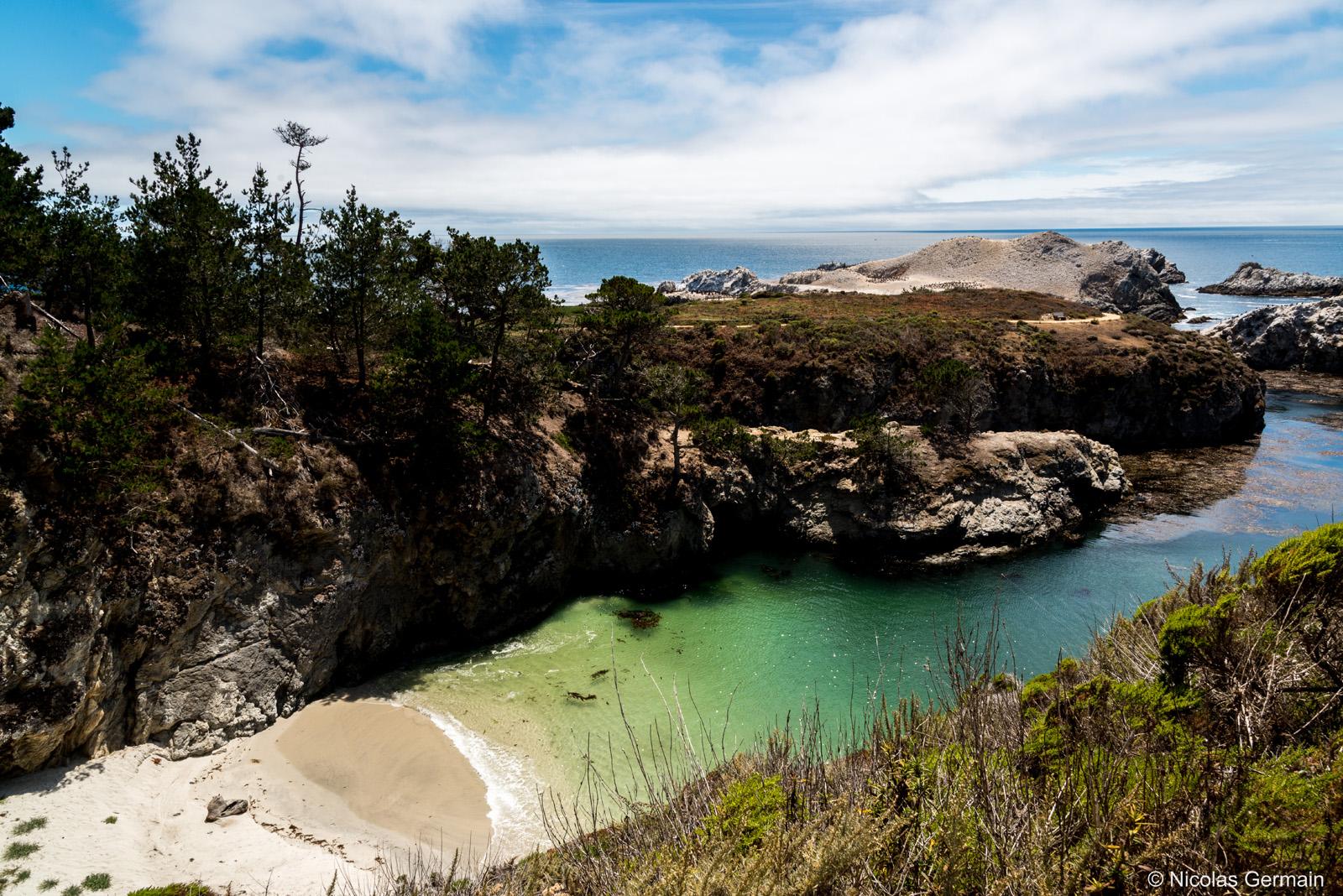 Paysage de Point Lobos au sud de Carmel près de Monterey, Californie