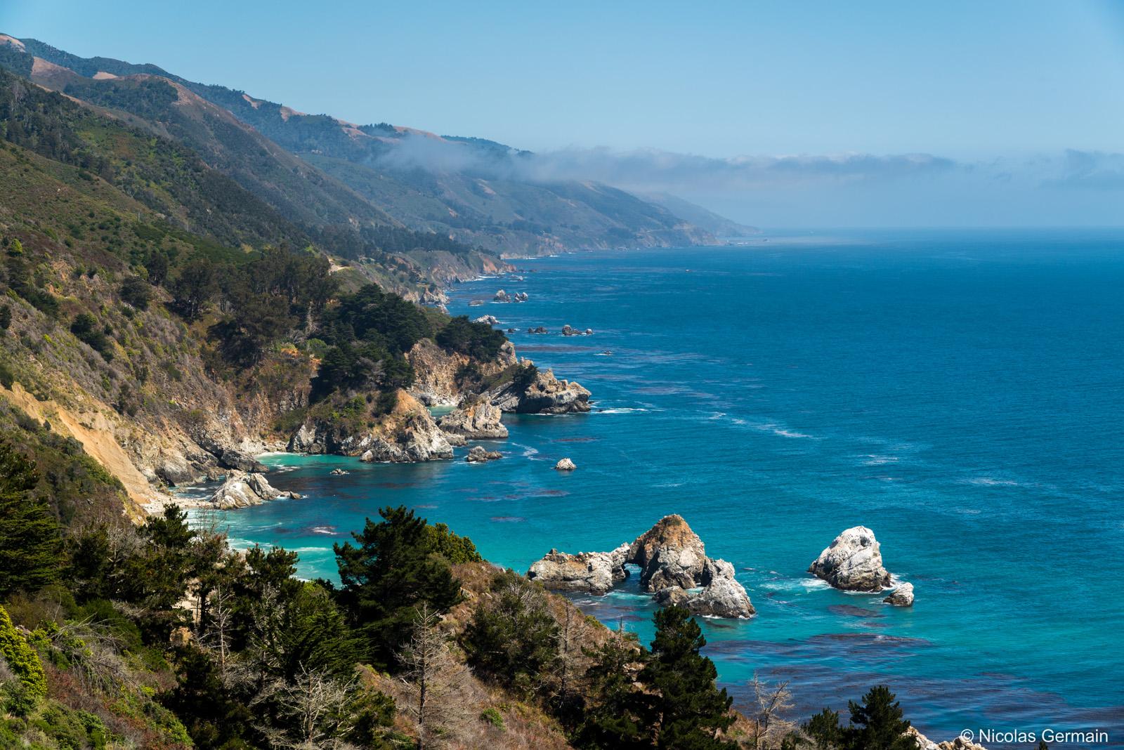 Côte pacifique au niveau de Big Sur, Californie