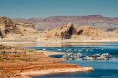 Wahweap Marina, au bord du Lac Powell, Arizona