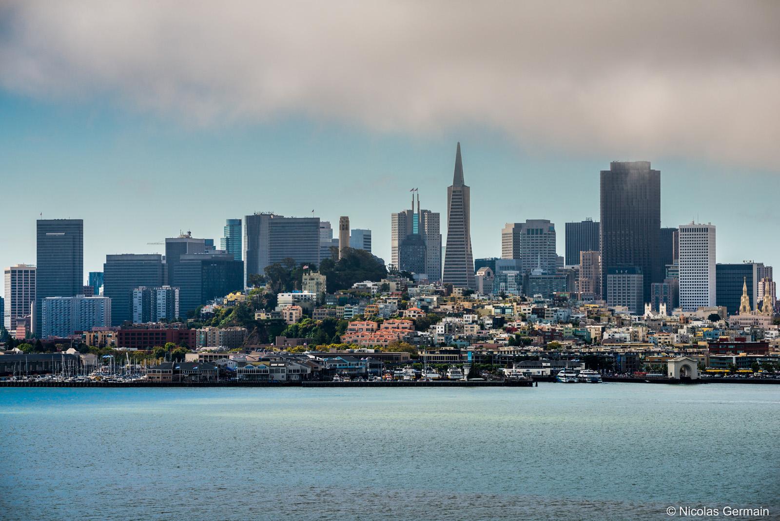 Vue sur San Francisco et ses buildings dominés par la Transamerica Pyramid