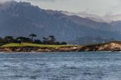 Un golf au bord de la côté près de Monterey, Californie