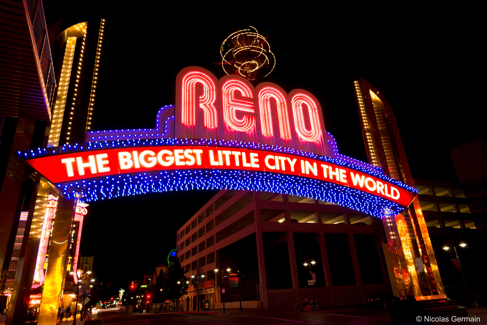 Enseigne lumineuse de la ville de Reno