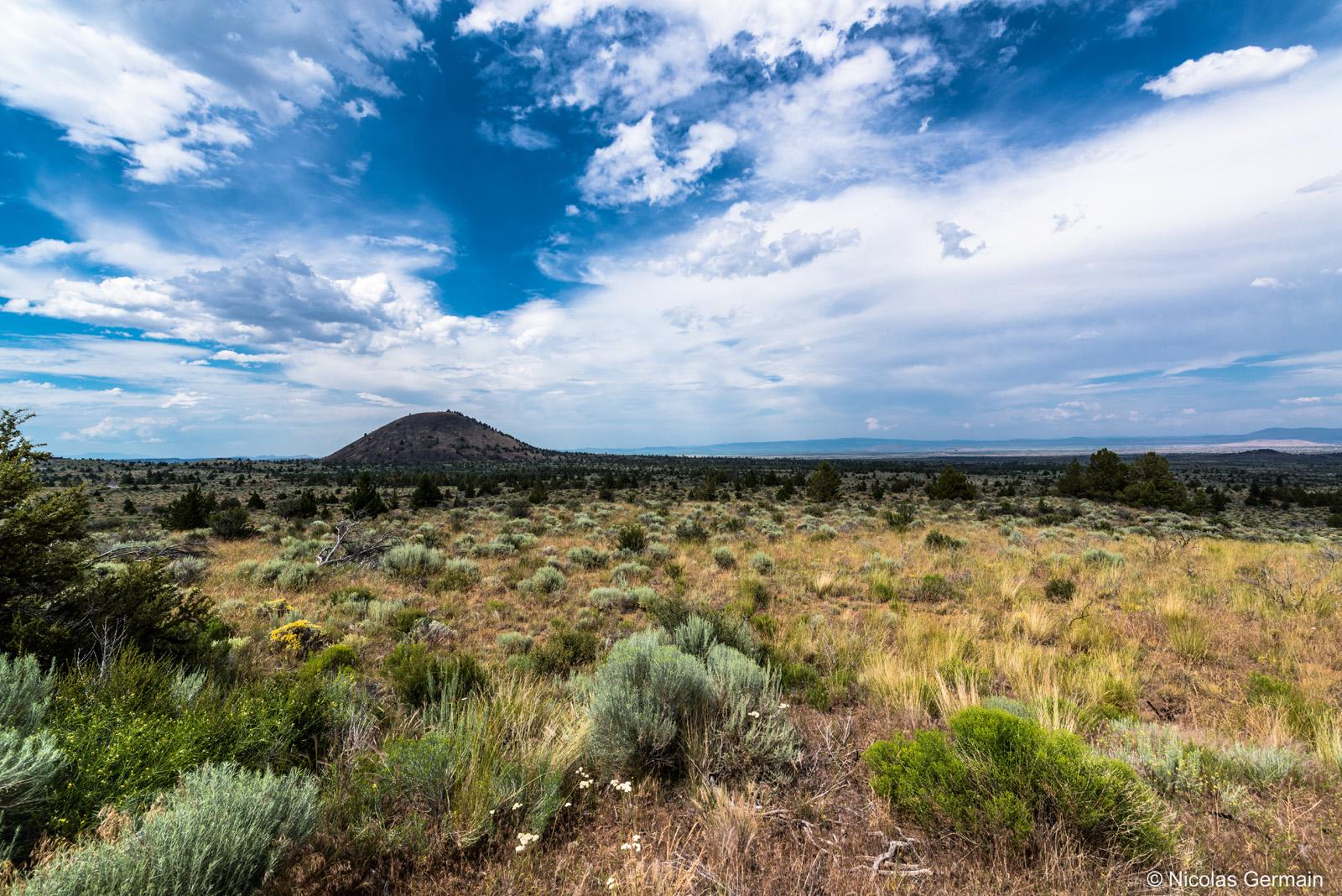 Paysage extérieur de Lava Beds National Monument, Californie