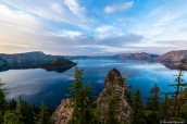 Crater Lake au coucher du soleil vu de Discovery Point, Oregon