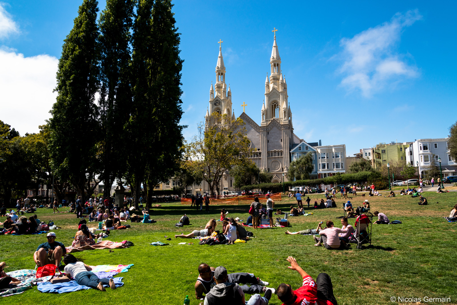 Washington Square dans le quartier de Telegraph Hill, San Francisco