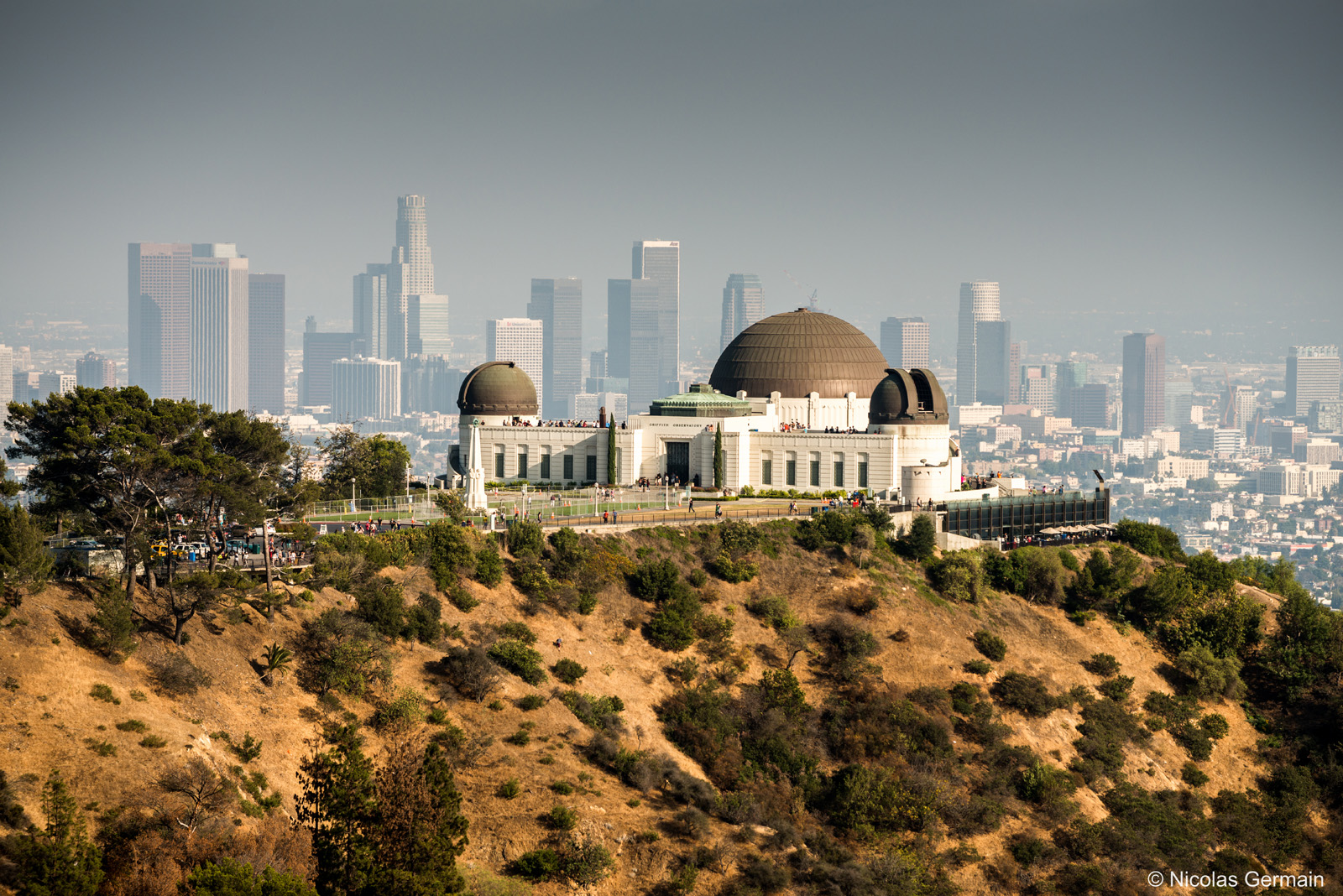 Griffith Observatory et les buildings de downtown Los Angeles en arrière-plan
