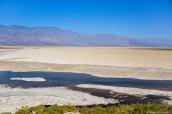 Badwater, le point le plus bas de l'Amérique du Nord, dans la vallée de la mort