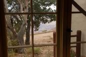 Vue partielle sur le Grand Canyon, photo prise d'un des chalets du Bright Angel Lodge