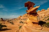 "Formation rocheuse appelée ""Control Tower"" dans Coyote Buttes South, Arizona"