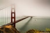 Le brouillard est très fréquent dans la baie de San Francisco et sur le Golden Gate Bridge