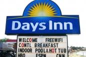 Panneau du Days Inn de Torrey, Utah