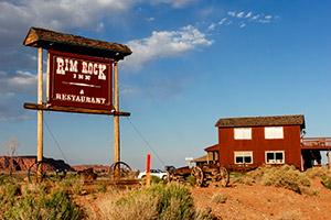 Entrée du Rim Rock Inn, près de Capitol Reef