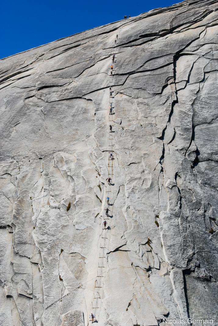 Montée du Half Dome grâce aux câbles, Yosemite