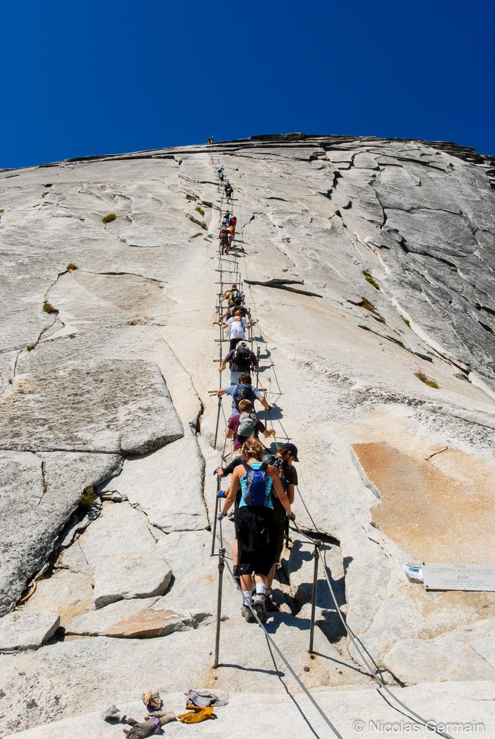 Début de la montée finale du Half Dome, Yosemite