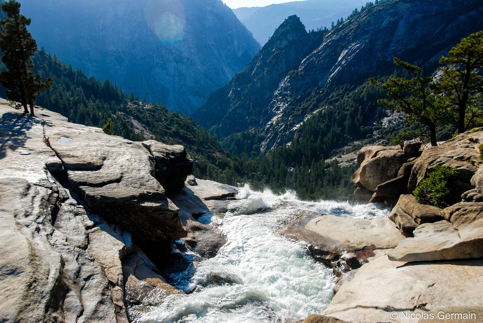 Sommet de la chute de Nevada Falls, Yosemite