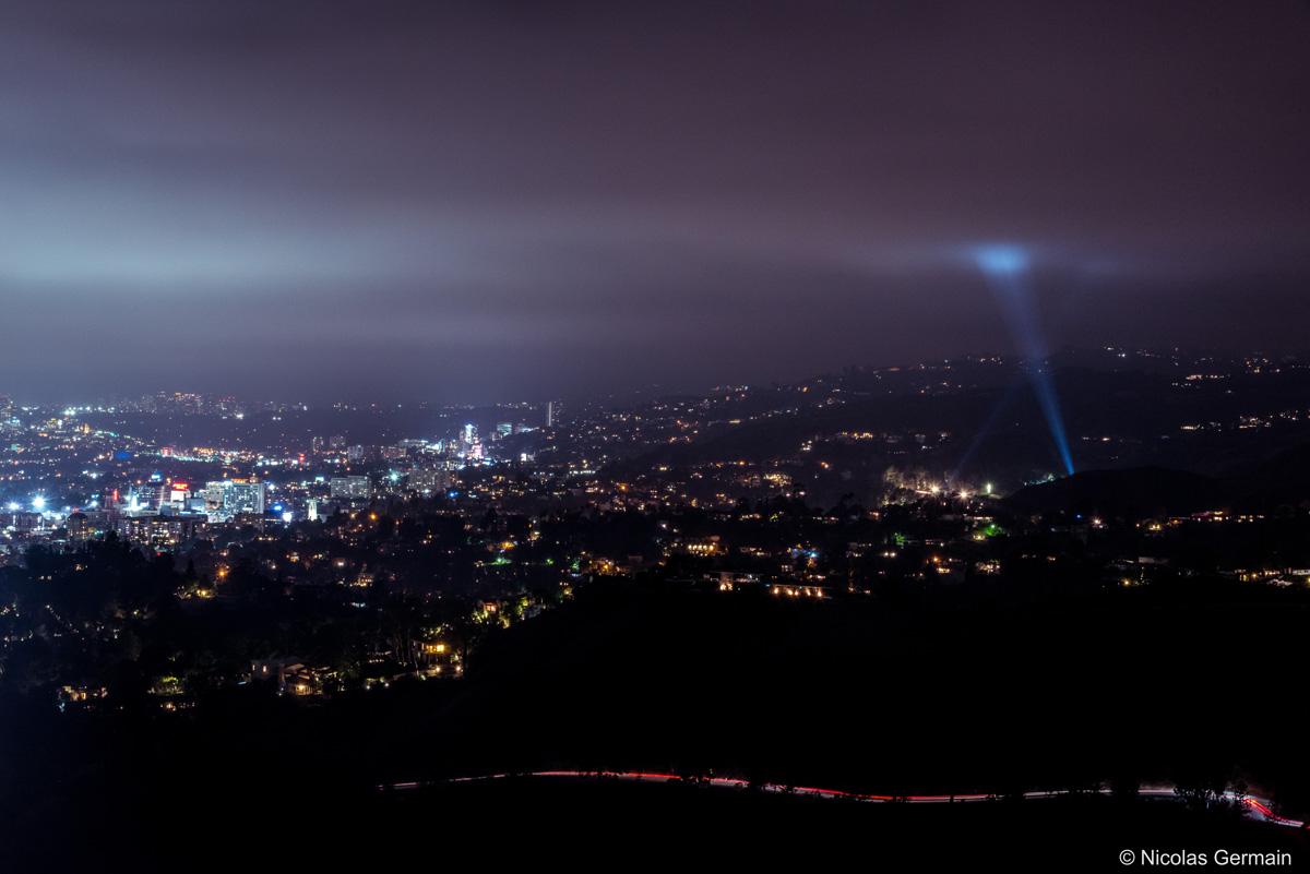 Vue de l'observatoire Griffith sur une partie de l'ouest de Los Angeles, Californie