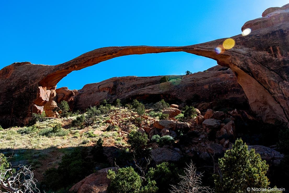 Landscape Arch dans Devils Garden, Arches National Park