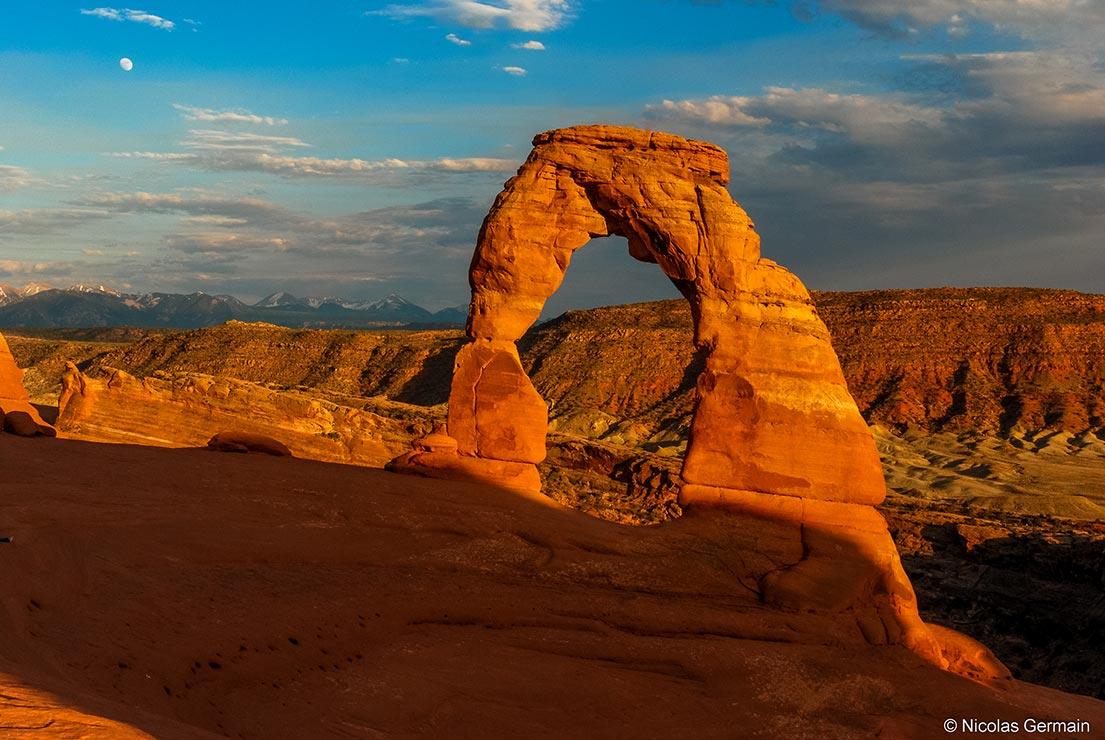 Delicate Arch au coucher du soleil, Arches National Park