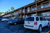 Vue extérieur du motel Coyote Mountain Lodge à Estes Park, Rocky Mountain National Park