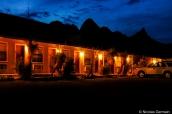ENtrée des chambres du Motor Inn, le motel de Big Bend Resort & Adventures, Texas