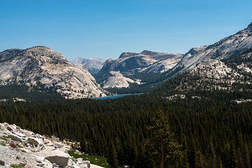 Paysage de Yosemite vu de la Tioga Road