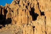 Pics créés par l'érosion à Cathedral Gorge, Nevada