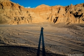 Coucher de soleil et ombre sur Cathedral Gorge State Park, Nevada