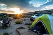 Lever de soleil sur le camping de Chaco Culture, Nouveau-Mexique