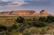 Fajada Butte au coucher du soleil dans Chaco Culture National Historical Park, Nouveau-Mexique