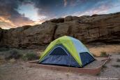 Tente sur l'emplacement 26 au camping Gallo de Chaco Culture, Nouveau-Mexique