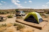 Tente au camping de Chaco Culture, Nouveau-Mexique