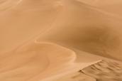 Vue sur les dunes de sable du haut de Star Dune, la plus haute de Great Sand Dunes
