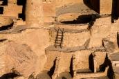 Détail de Cliff Palace au coucher du soleil, Mesa Verde